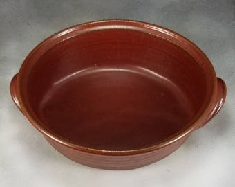 Pottery Casserole Dish Medium Rust Red Ceramic Oval Casserole Hand Thrown Stoneware Pottery Casserole 4