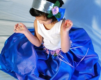 Fairy Princess Costume- Dew Drop Skirt and Crown