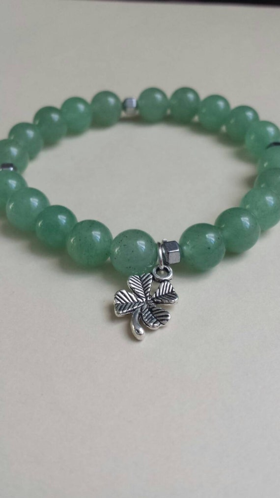 Luck of the Irish : Reiki Attuned Green Aventurine Healing Bracelet