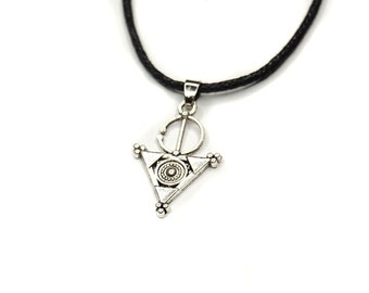 Charm Choker - Silver Charm Choker Necklace, Pendant Necklace, Cord Choker, Layering Choker, 90s, grunge, nugoth, occult, wicca, KadabraCult