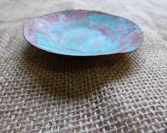 Patina Copper Low Dish Copper Bowl
