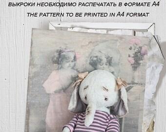 Pattern elephant teddy 15.5 cm