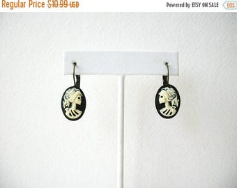 ON SALE Retro Antiqued Bronze Bezel Set Lolita My Bride Resin Earrings 71017