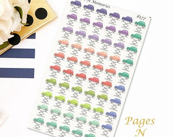 Car Repair Planner Stickers/ Car Maintenance Planner Stickers/ Functional Stickers/  Plum Paper Colors/  Erin Condren/Personal Planners #177