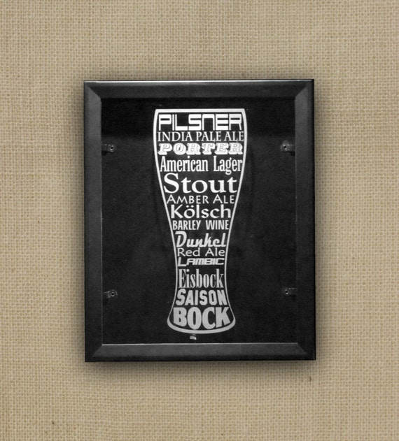 Like this item? & 11x14 Beer Cap Shadow Box Etched Glass Art Man Cave Wall Art