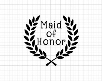 Maid of Honor - Iron-On Vinyl Decal Heat Transfer
