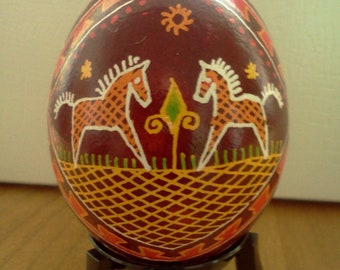 Orange Horse Traditional Design