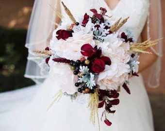 Silk Bridal or Bridesmaids bouquets....silk weddings made to order