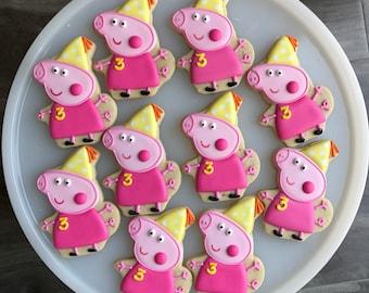 Peppa Pig Cookies/ Peppa Pig Birthday Cookies