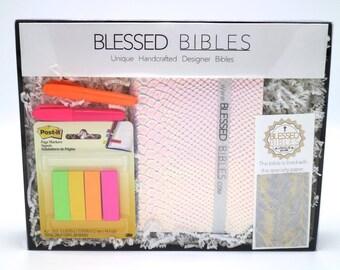 Silver Holographic Snake Skin & Silver Leaf Bible Kit - NKJV