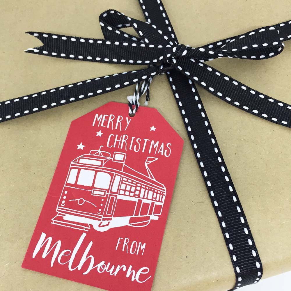 Merry Christmas From Melbourne Gift Tags 6 pack 2 designs