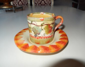 ITALY DEMITASSE CUP and Saucer Set