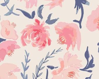 Aquarelle Study Wash By Bonnie Christine 'Wonderful Things' - Art Gallery Fabric Quilting Cotton 1/2 Yard Full Yard
