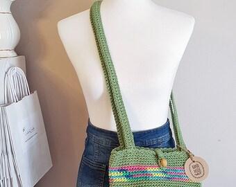 Crochet Shoulder Bag, Crochet Purse, Boho Purse