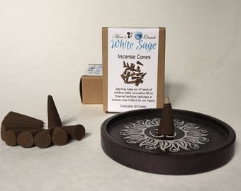 White Sage Incense Cones Box of 10