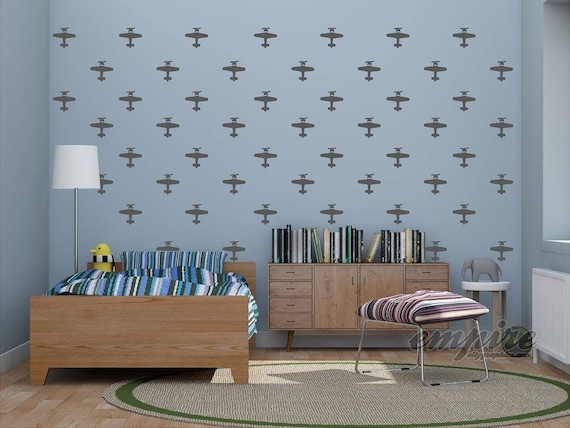Mini Planes, Airplane decals, Boys wall decor