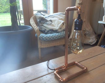 Vintage style copper pipe lamp