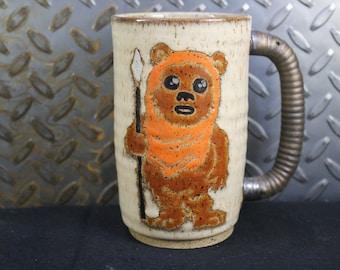 Star wars Ewok mug handmade #452