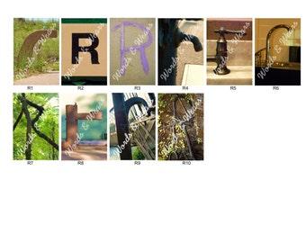Letter R Word Art