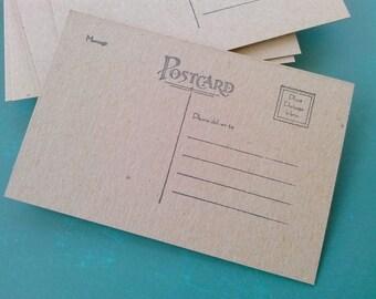Gestempelt, Postkarte Rohlinge, Postkarten von 20, Spanplatten Postkarten, 4 x 6 Zoll