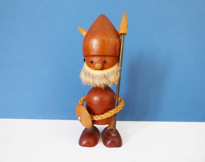 Danish Viking wooden teak bottle opener