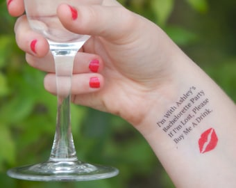 One Bachelorette Tattoo - Bachelorette Party Temporary Tattoos - If I'm Lost, Please Buy Me A Drink