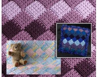 How to Make Easy Tunisian Crochet Entrelac pattern pdf