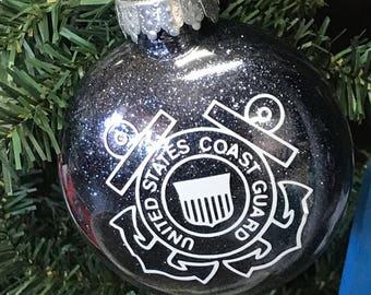 Holiday Christmas Tree Ornament Military Branch US Coast Guard
