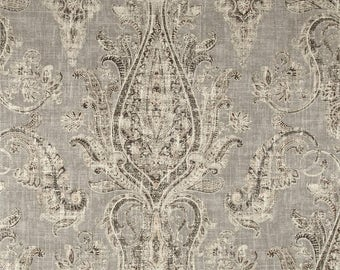 "Linen Shower Curtain Kaufmann Fair Trade 72"" x 72"", 84"", 96"", 108"" Extra Long Any Size Gray Cream Beige Boho Tribal"