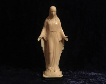 Antique Plastic Our Lady Of Grace Statue From The 1950's
