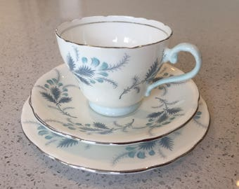 Vintage English Bone China Trio by Aynsley Las Palmas design : las palmas dinnerware - pezcame.com