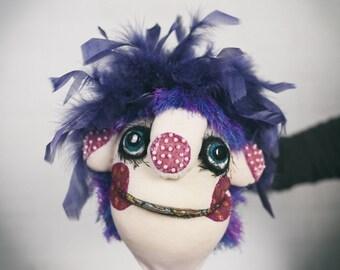 Yoyo - hand puppet / muppet, original custom made doll
