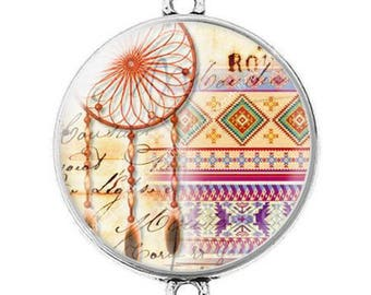 Great connector silver cabochon dreamcatcher dream catcher Indian c2