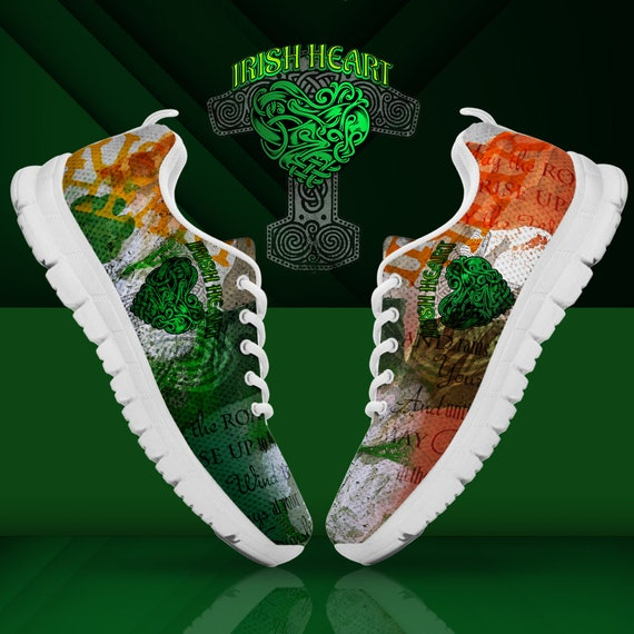 Heart Sizes Blessing Irish Unofficial Custom Sneakers Mens Trainers Shoes Ladies F67wx7q