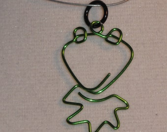 Wire Wrapped Kermit The Frog Pendant Small MADE to ORDER
