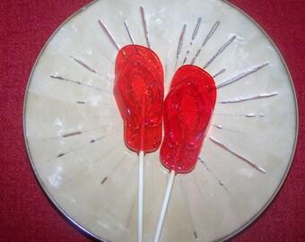 10 Summer Vacation Flip Flop Sandal Lollipop Sucker Party Luau Favor Candy BBQ