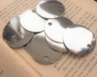 10 TUMBLED Aluminum 1.5 Inch Discs - 18 Gauge