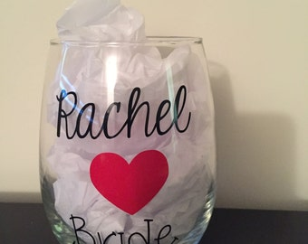 Customized Wedding Glasses- MADE TO ORDER!