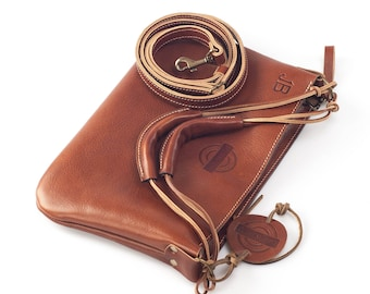 Handmade Leather Clutch Small Purse personalized natural leather
