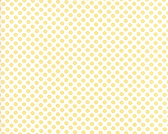 Pepper and Flax - Lacy Polka Dot in Eyelet White: sku 29045-16 cotton quilting fabric by Corey Yoder for Moda Fabrics