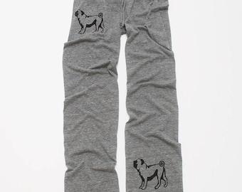 cute as a button Pug Pants, Yoga Pants, Lounge Pants