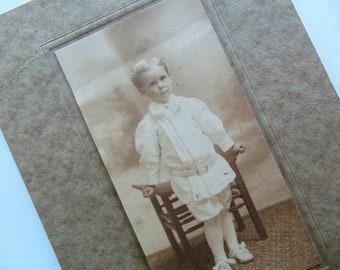 Antique Boy - Antique Edwardian Photograph