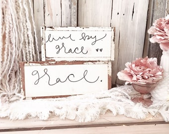 READY TO SHIP, Set of 2 Grace Signs