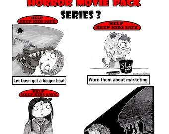 Safety Kid Stickers Horror series 3
