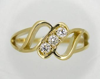Diamond Love ring, Promise ring, Friendship ring.