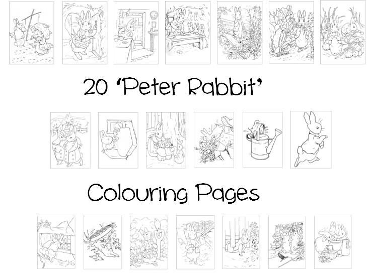 Beatrix Potter Coloring Book A K B Info