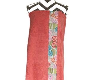 Julianne Coral Towel Wrap