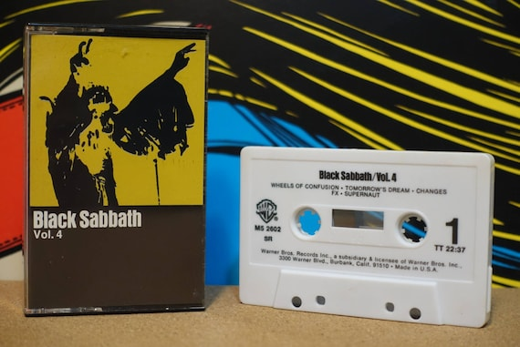 Black Sabbath Vol. 4 by Black Sabbath Vintage Cassette Tape