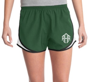 Forest Monogrammed Shorts, Personalized Running Shorts, Work Out Shorts, Gym Shorts, Monogrammed Running Shorts, Personalized Shorts