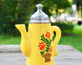 Vintage Mid Century Yellow Perfume Bottle Koffee Klatch By Avon / Retro / Kitsch / Vintage Perfume Bottles / Bathroom Decor / Toiletries